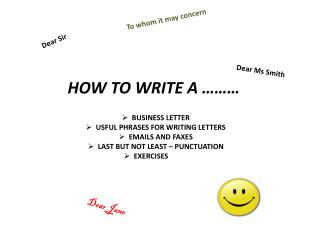 HOW TO WRITE A ………