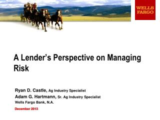 A Lender's Perspective on Managing Risk