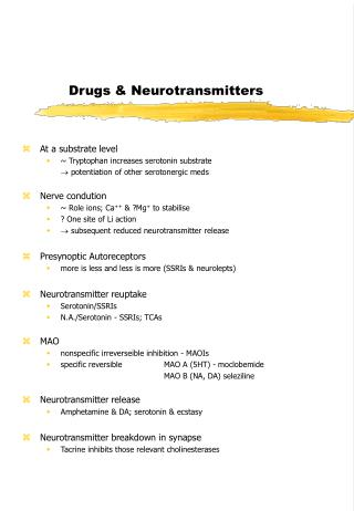 Drugs & Neurotransmitters