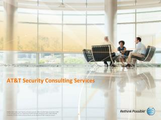 AT&T Security Consulting Services