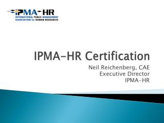 IPMA-HR Certification