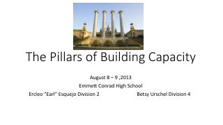 The Pillars of Building Capacity