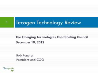 Tecogen Technology Review