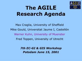 The AGILE Research Agenda