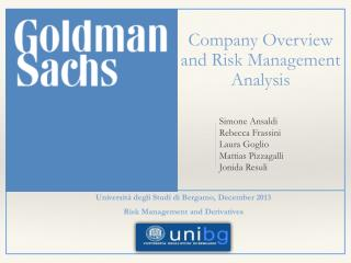 Company Overview and Risk Management Analysis
