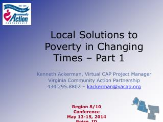 Local Solutions to Poverty in Changing Times – Part 1