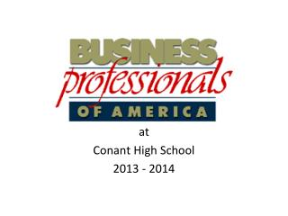 at Conant High School 2013 - 2014