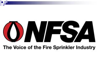 To protect lives and  property from fire through  the wide-spread acceptance of the fire sprinkler concept.