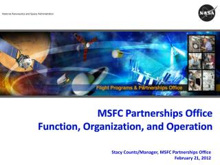 MSFC Partnerships Office Function, Organization, and Operation