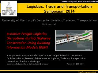 Logistics, Trade and Transportation Symposium 2014