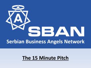 The 15 Minute Pitch