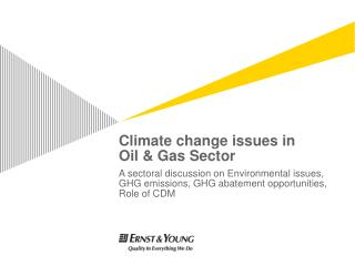 Climate change issues in Oil & Gas Sector