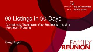 90 Listings in 90 Days
