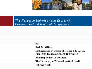 The Research University and Economic Development:   A National Perspective