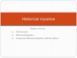 Historical injustice