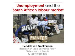 Unemployment  and the South African labour market