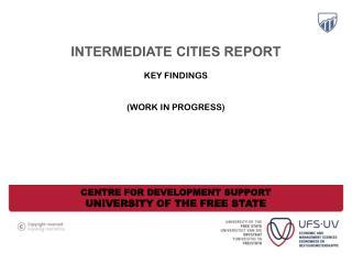 intermediate cities report Key findings  (Work in progress)