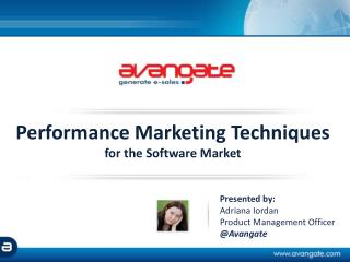 Performance Marketing Techniques for the Software Market