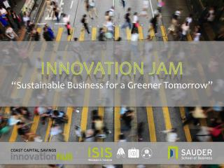 "INNOVATION JAM ""Sustainable Business for a Greener Tomorrow"""