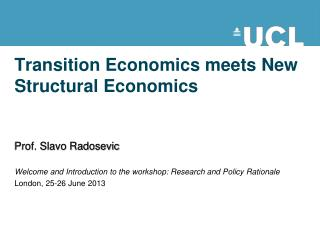 Transition Economics meets New Structural Economics