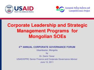 Corporate Leadership and Strategic Management Programs  for Mongolian SOEs