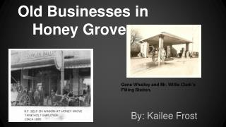 Old Businesses in Honey Grove