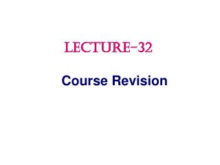 Course Revision