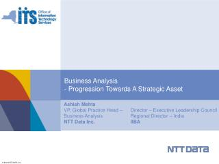Business Analysis - Progression Towards A Strategic Asset