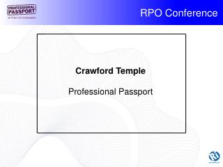 Crawford Temple Professional Passport