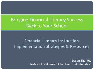 Bringing Financial Literacy Success Back to Your School