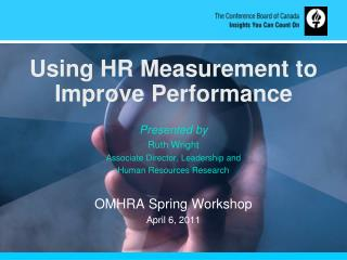 Using HR Measurement to Improve Performance