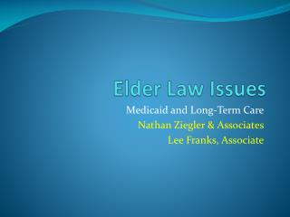 Elder Law Issues