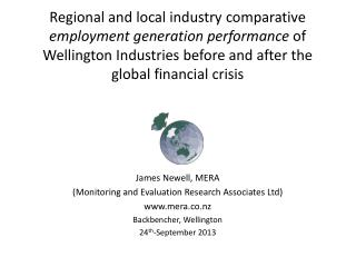 Regional and local industry comparative  employment generation performance  of Wellington Industries before and after th