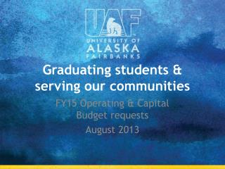Graduating students & serving our communities