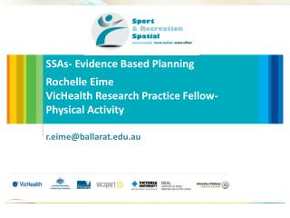 SSAs - Evidence Based Planning Rochelle Eime VicHealth  Research Practice Fellow- Physical Activity r.eime@ballarat.edu.