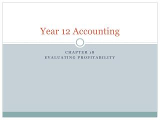 Year 12 Accounting