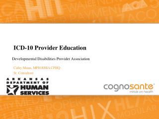 ICD-10 Provider Education