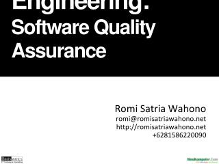 Software   Engineering: Software Quality Assurance