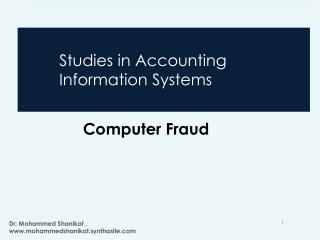 Studies in Accounting Information Systems