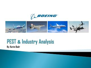 PEST  &  Industry Analysis By:  Karim Badr