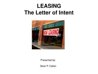LEASING The Letter of Intent