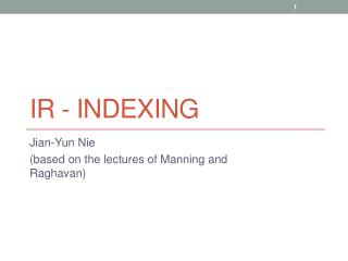 IR -  Indexing
