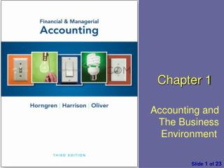 Chapter 1 Accounting and The Business Environment