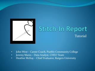Stitch-In Report