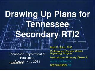 Tennessee Department of Education August 14th, 2013