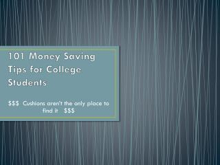 101 Money Saving Tips for College Students