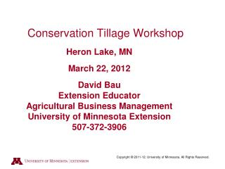 Conservation Tillage Demonstration Project  Heron Lake Watershed District 2006  Beans