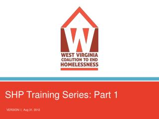 SHP Training Series: Part 1