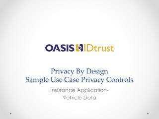 Privacy By Design Sample Use Case Privacy Controls