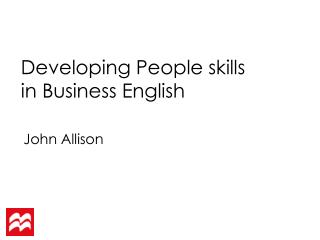 Developing  People  skills in Business English